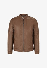 TOM TAILOR - Faux leather jacket - mid brown fake leather - 4