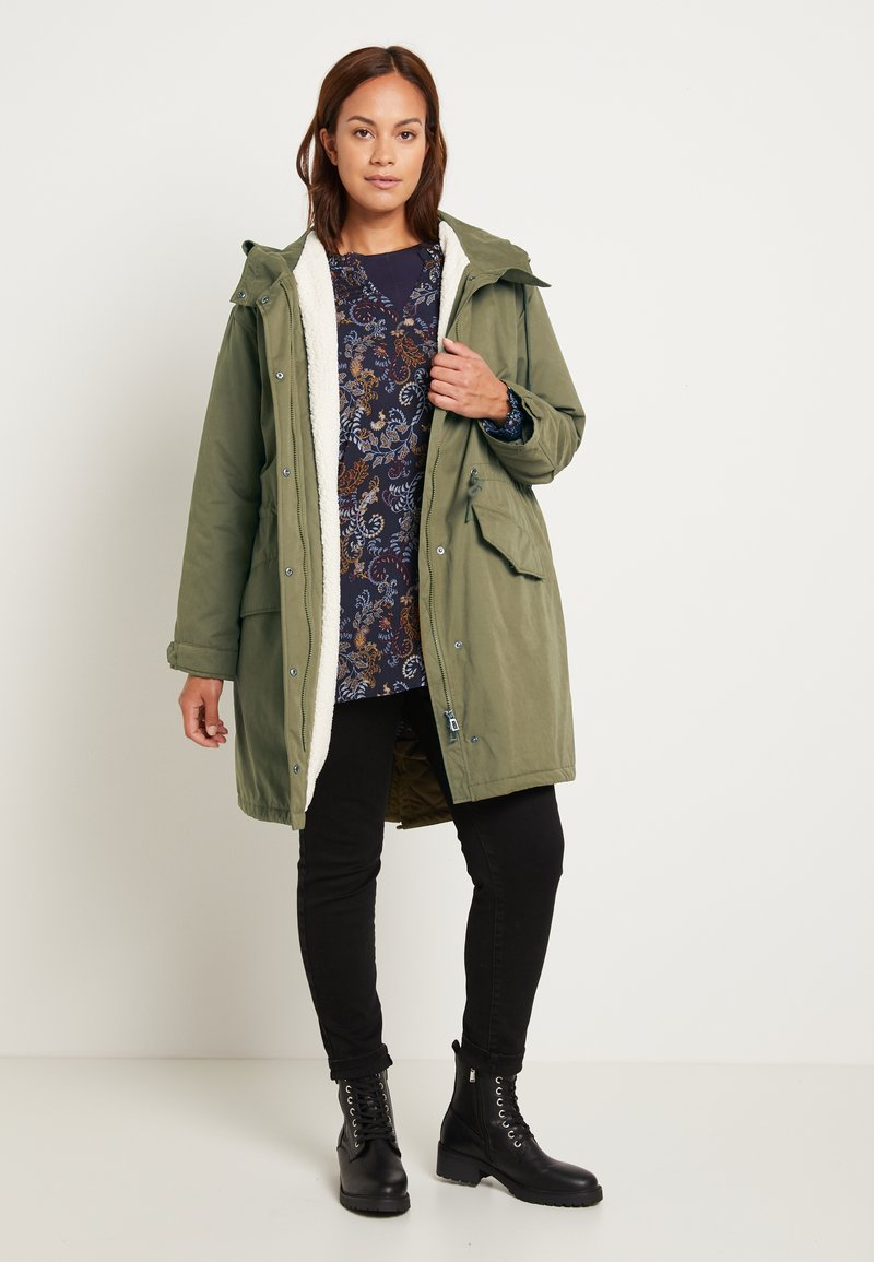 MY TRUE ME TOM TAILOR - WINTER - Parka - olive night green