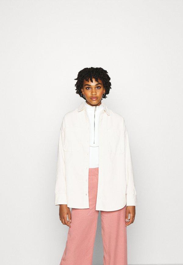 Monki CONNY SHIRT - Koszula - white light/biały EOET