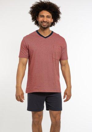 2 PIECE SET - Pyjama - blau / rot gestreift