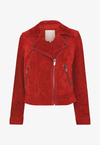 Pieces - PCANA SUEDE JACKET - Leather jacket - chili oil - 3