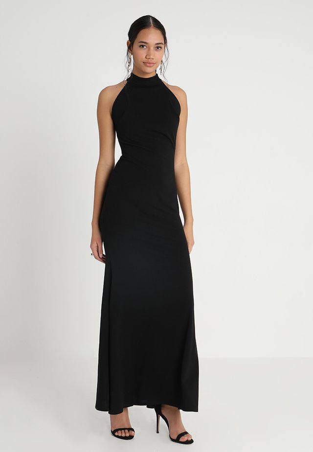 HIGH NECK DRESS - Maxi dress - black