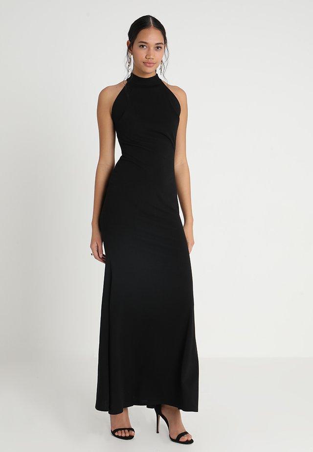 HIGH NECK DRESS - Robe longue - black