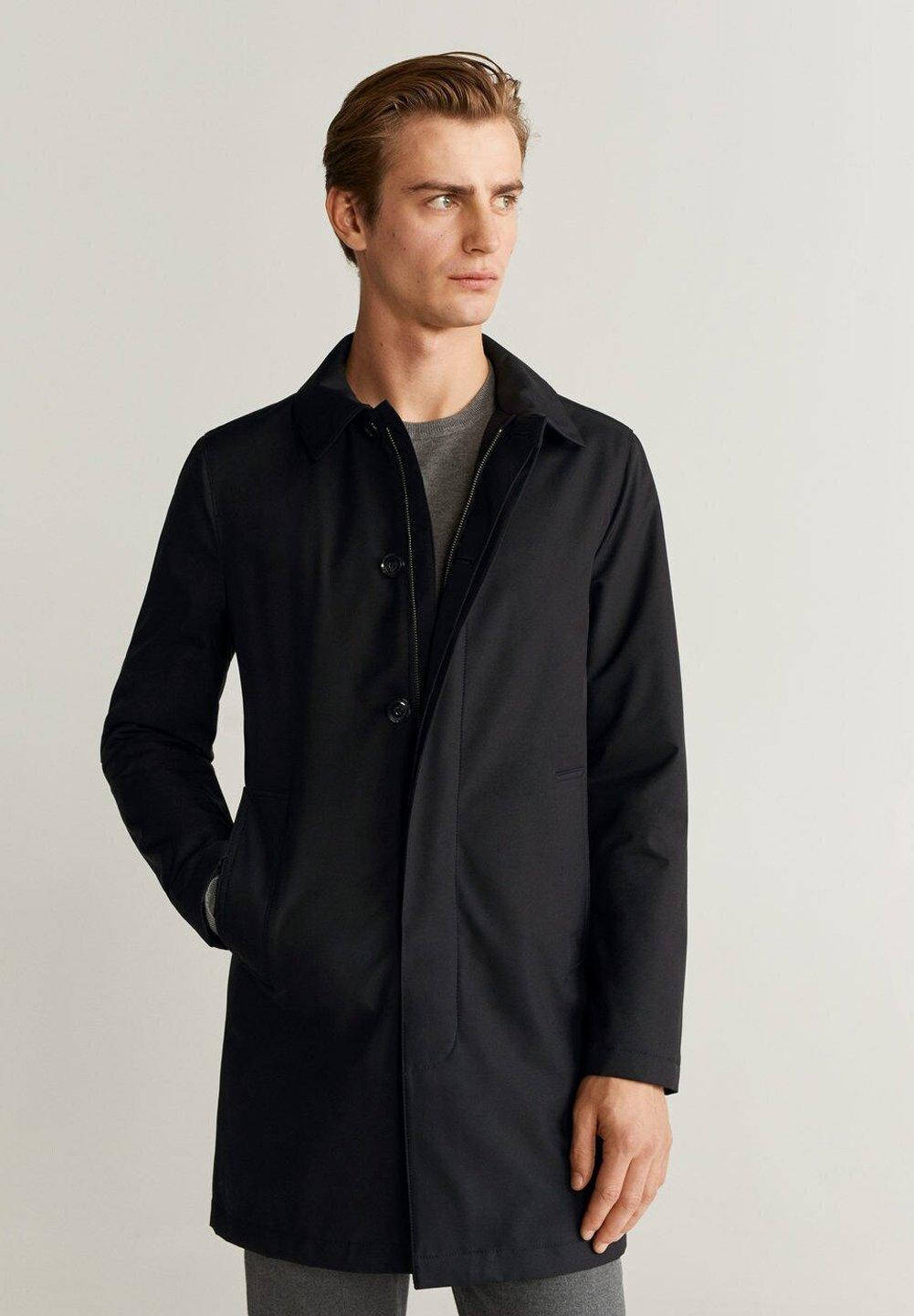 Get Online Best Price Men's Clothing Mango KINTOSH Short coat schwarz yRoe0jGni mo3R9zZiH