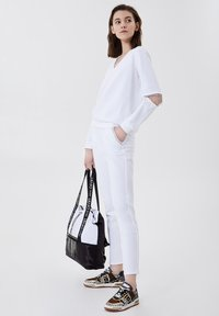 LIU JO - Sweatshirt - white with gemstones - 1