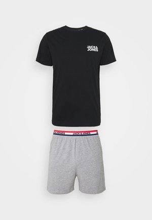 JACLOUNGE SHORT SET - Pyžamová sada - light grey melange/black