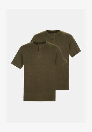 Basic T-shirt - dunkel oliv/dunkel oliv