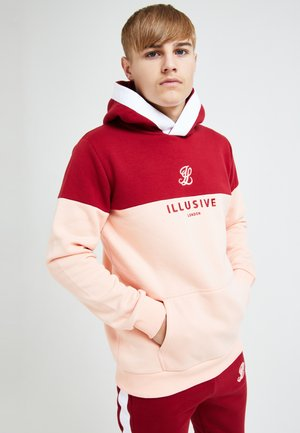 ILLUSIVE LONDON DIVERGENCE - Bluza z kapturem - red & pink