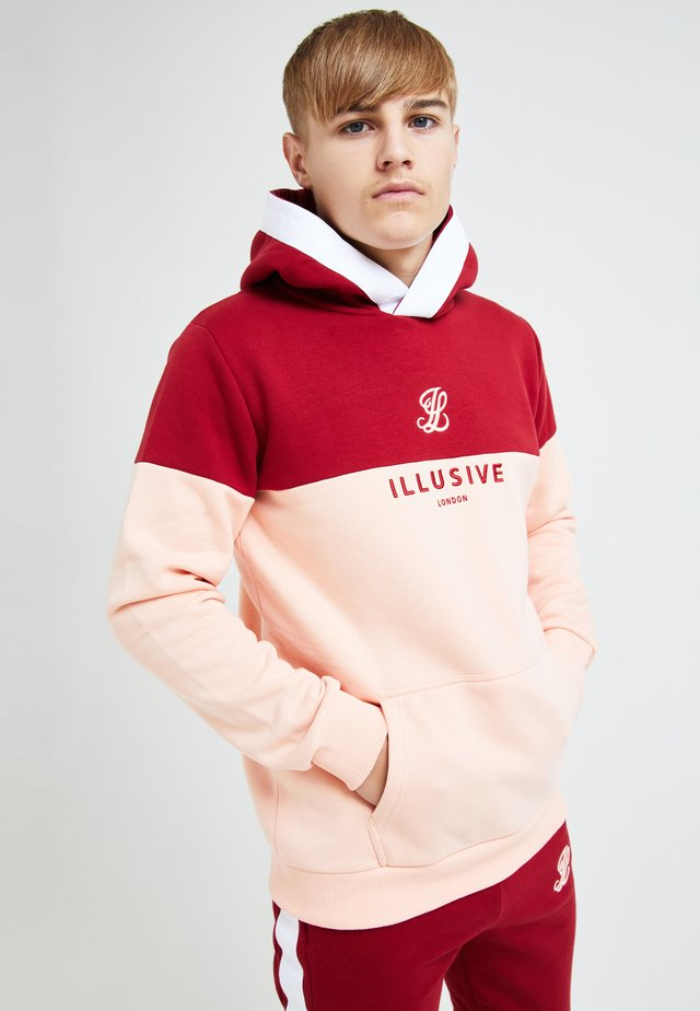 ILLUSIVE LONDON DIVERGENCE - Kapuzenpullover - red & pink