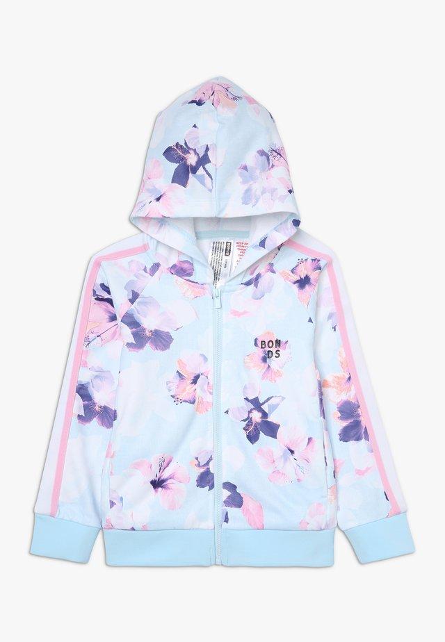 LOGO ZIP HOODIE - veste en sweat zippée - light blue