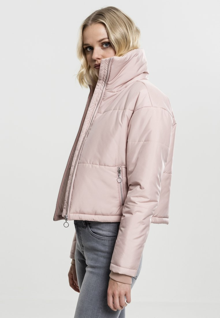 Urban Classics LADIES OVERSIZED HIGH NECK JACKET - Veste mi-saison - rose - Vestes Femme WJP91