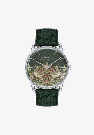 UHR MORRIS & CO SILVER GREEN PERLON 38MM - Ure - fennel