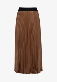 HALLHUBER - MIT KONTRASTBUND - A-line skirt - caramel - 3