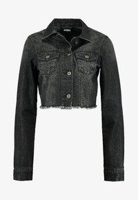Urban Classics - SHORT JACKET - Denim jacket - black washed - 4