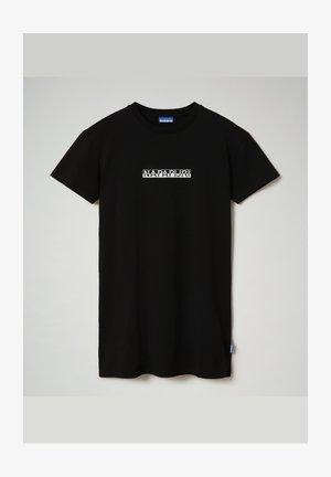 S-BOX LONG - Print T-shirt - black 041