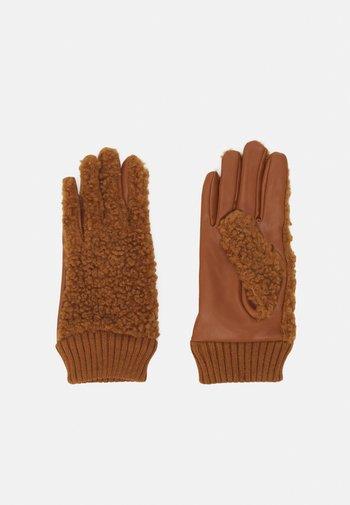 Rękawiczki pięciopalcowe - cognac