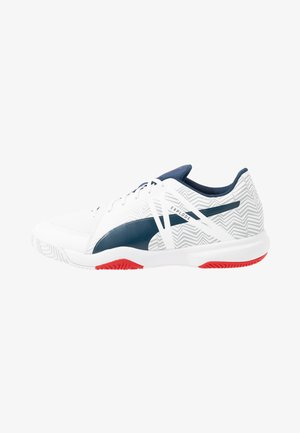 EXPLODE EH 3 - Handball shoes - puma white/dark denim/high risk red/glacier gray
