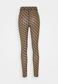Pinko - GELOSO STRETCH LOGO - Leggings - tan - 5