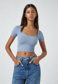 PULL&BEAR - Basic T-shirt - blue - 0