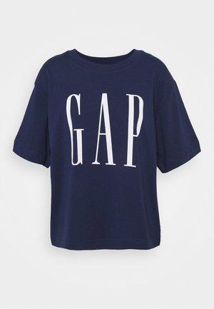 GAP BOXY TEE - T-shirt con stampa - elysian blue