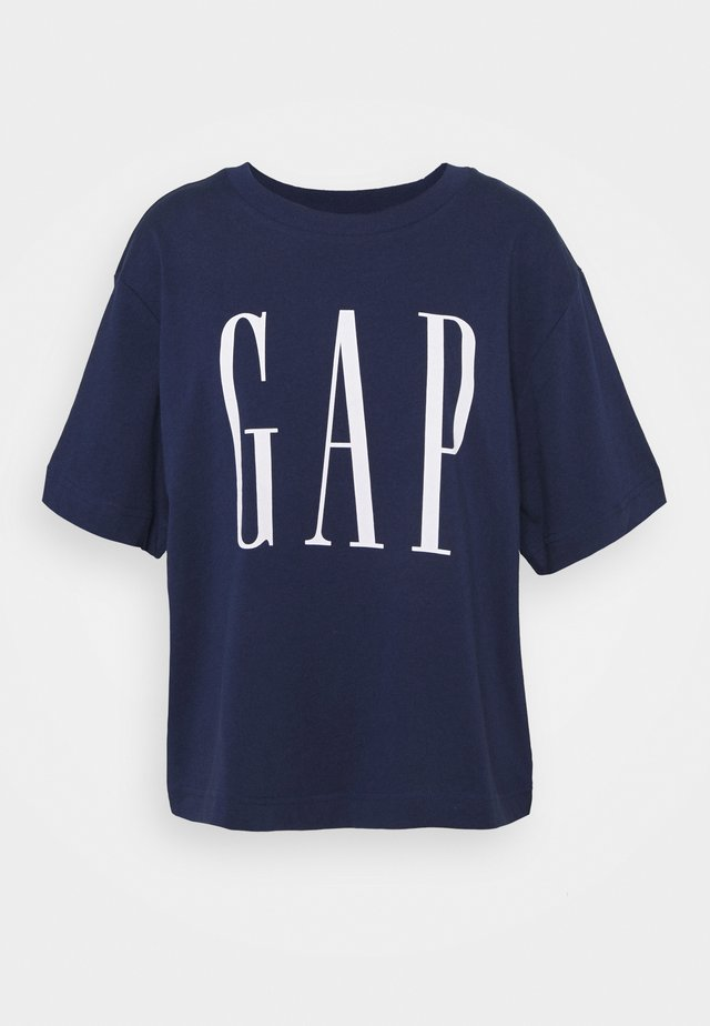GAP BOXY TEE - T-shirt imprimé - elysian blue