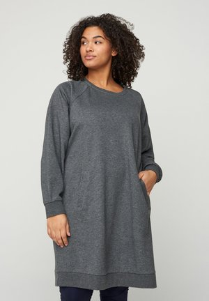 MIT TASCHEN - Day dress - dark grey