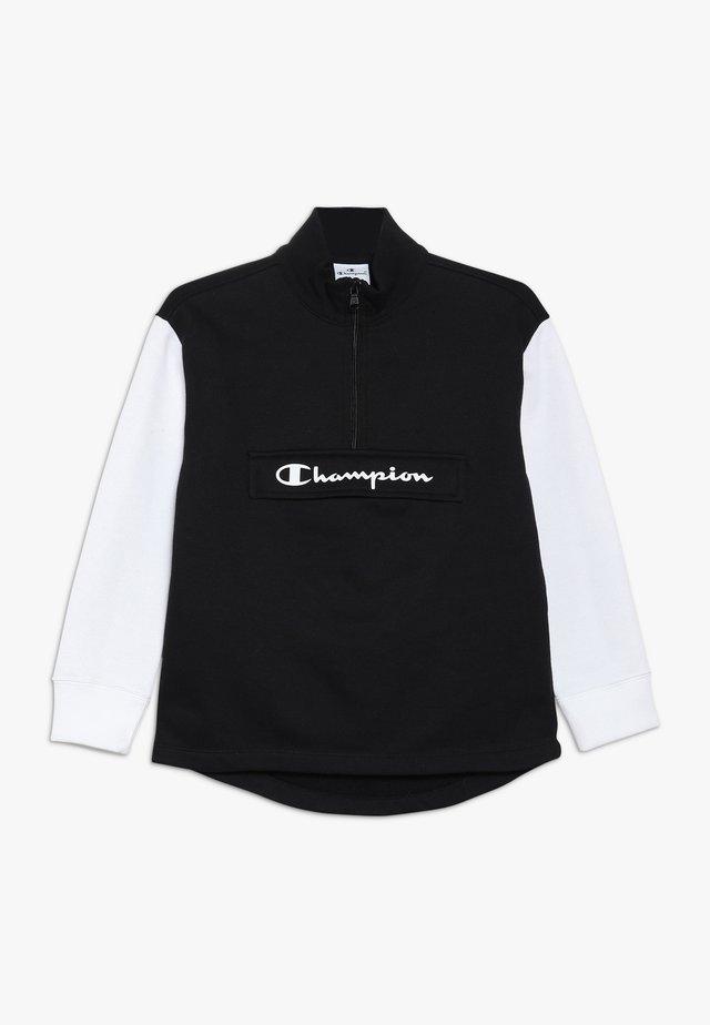 BASIC BLOCK HALF ZIP - Sweatshirt - black