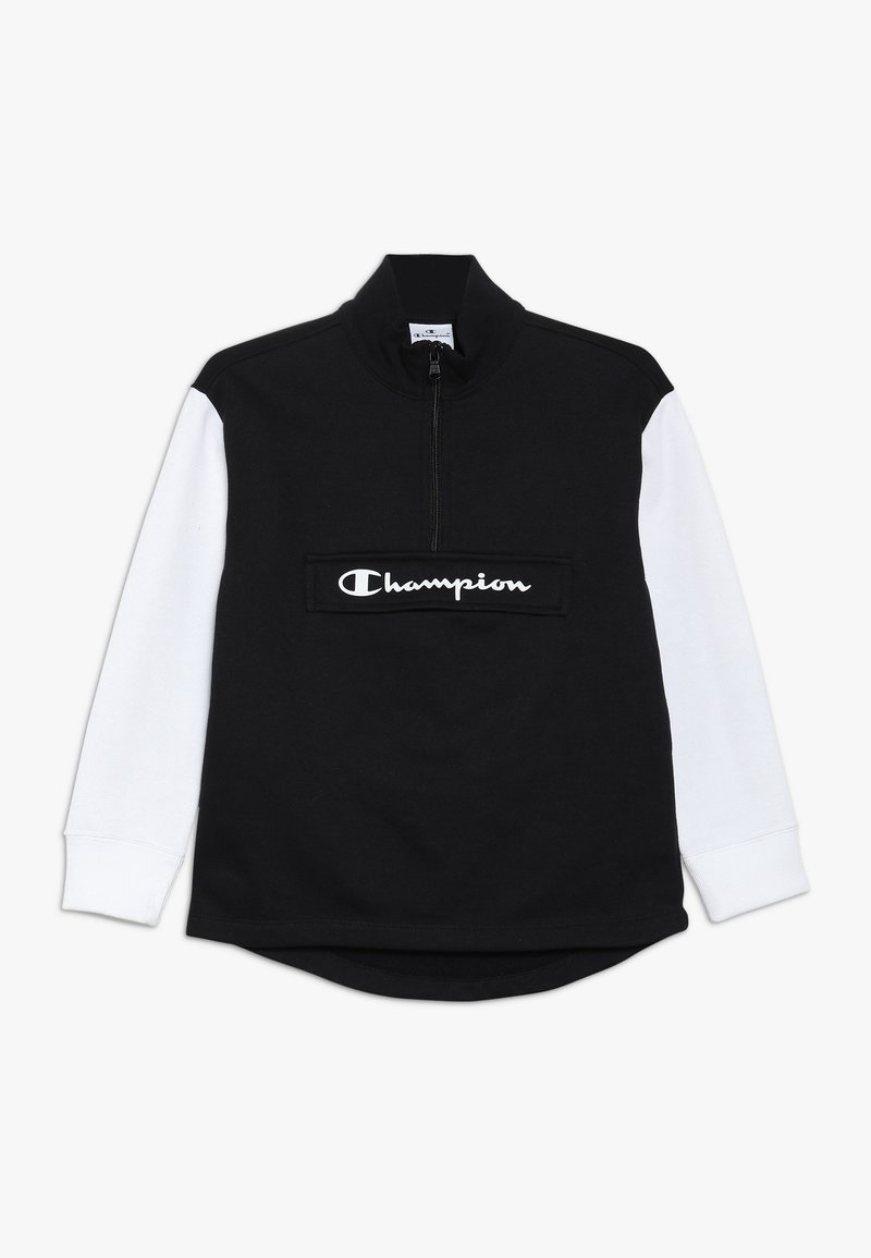 Champion - BASIC BLOCK HALF ZIP - Sweatshirt - black