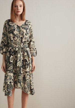 Shirt dress - damasco floreale