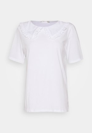 ALVA COLLAR TEE - Blůza - white