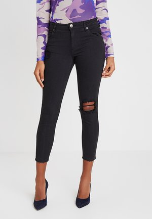 MID RISE CROPPED - Jeans Skinny - washed black