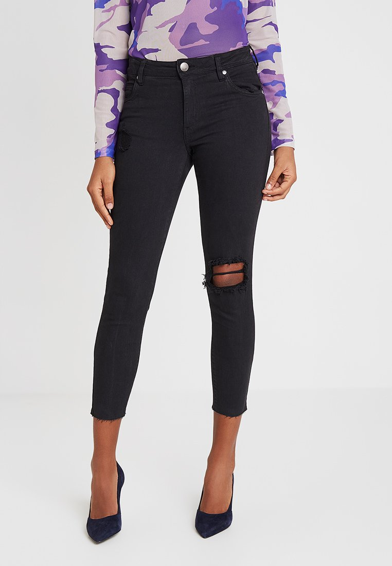 Cotton On - MID RISE CROPPED - Jeans Skinny Fit - washed black