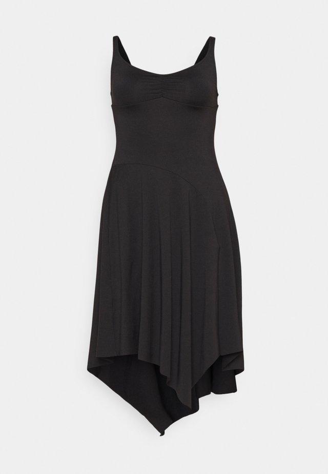 ASYMMETRICAL HEM TANK DRESS - Sports dress - black