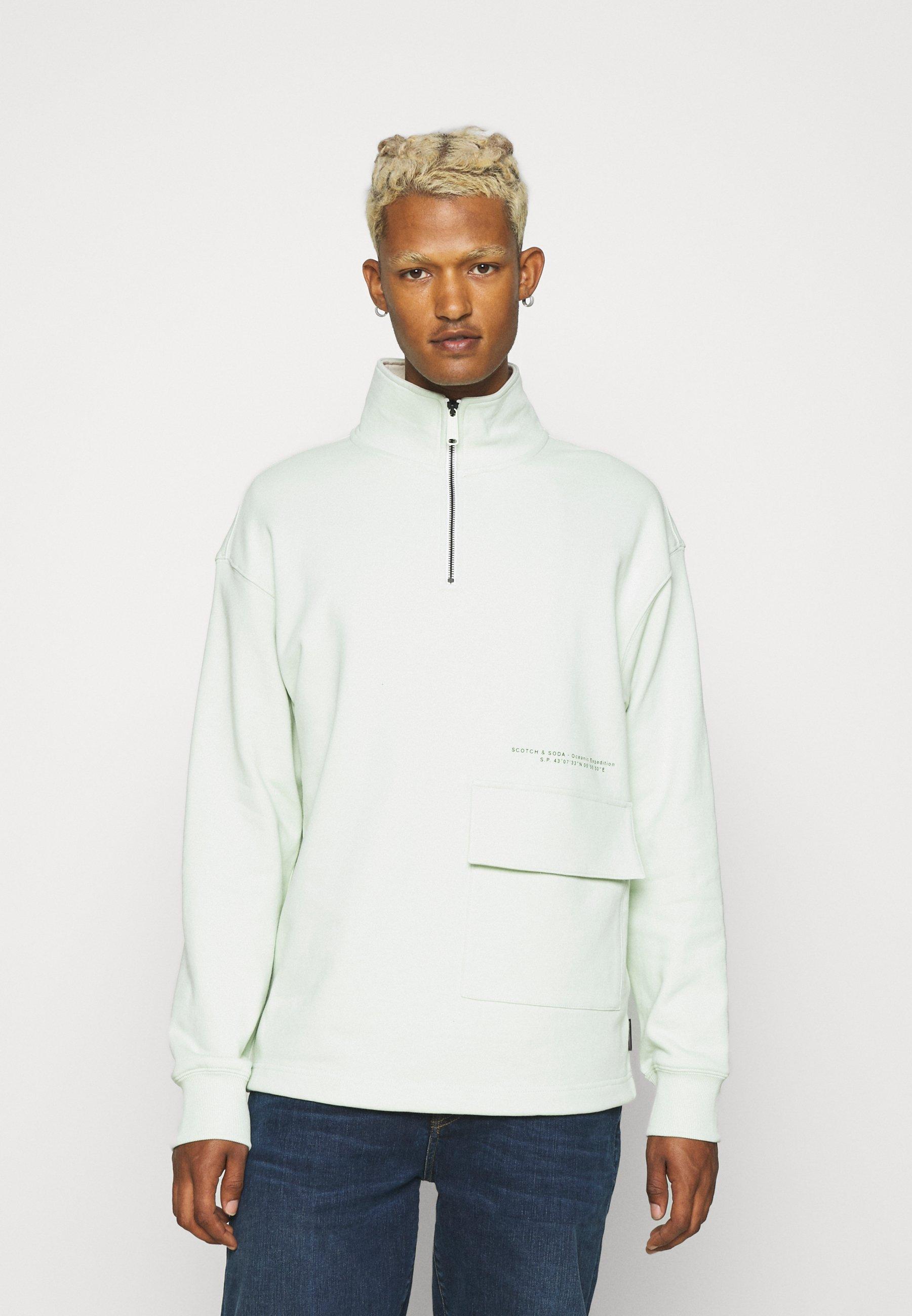 Men HALF ZIP WITH SUBTLE CONTRAST DETAILS - Sweatshirt