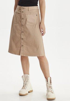 DITTE - A-line skirt - tannin