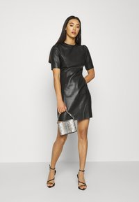Noisy May - NMHILL SHORT DRESS - Day dress - black - 1