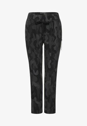 MIT PRINT - Trousers - grau