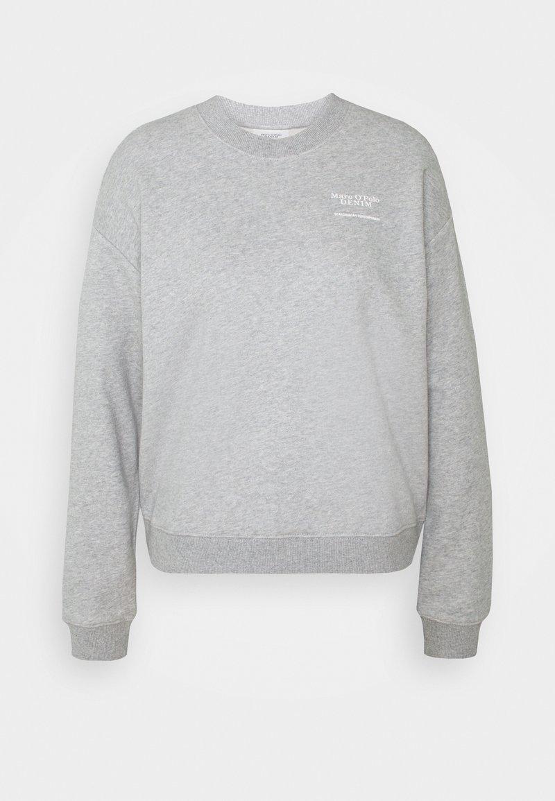 Marc O'Polo DENIM - LONGSLEEVE ROUNDNECK PLACED PRINT - Sweatshirt - cloudy melange