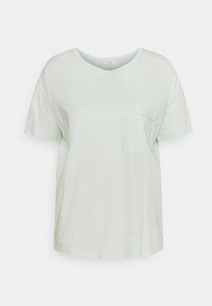 SHORT SLEEVE PATCHED POCKET LOOSE BODYSHAPE - Basic T-shirt - blue glow