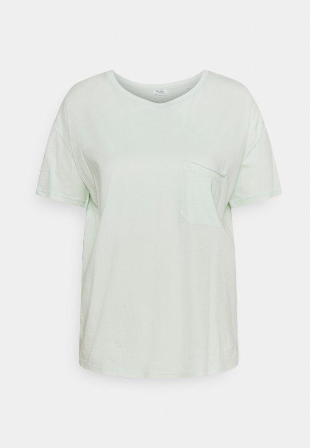 SHORT SLEEVE PATCHED POCKET LOOSE BODYSHAPE - T-shirt basic - blue glow