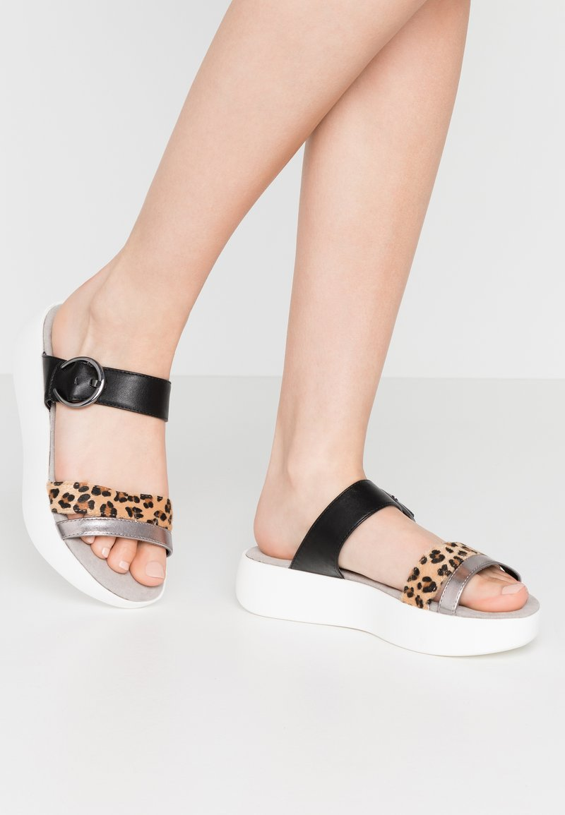 JETTE - Pantofle - brown/black