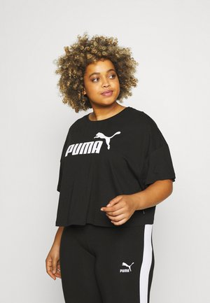 CROPPED LOGO TEE PLUS - Print T-shirt - black