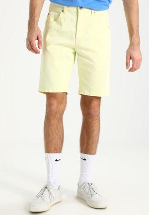 Denim shorts - powder yellow