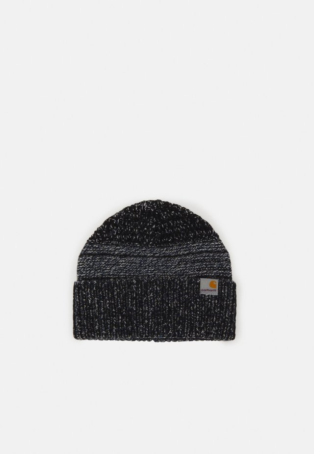 BLIZZARD BEANIE - Pipo - black/blue/wax