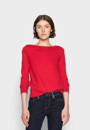 BOAT NECK SWEATER - Jumper - red