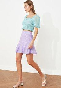 Trendyol - PARENT - A-line skirt - purple - 3
