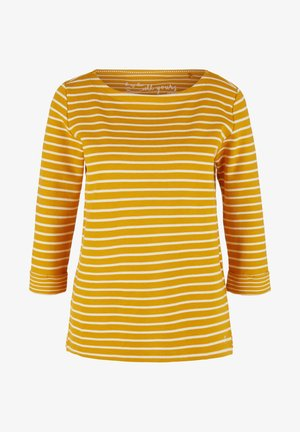 Long sleeved top - yellow stripes
