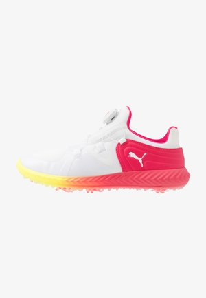 IGNITE BLAZE SPORT DISC SOLSTICE - Golf shoes - white/nrgy rose