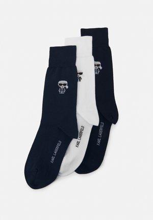 3 PACK - Calcetines - black/dark blue/white