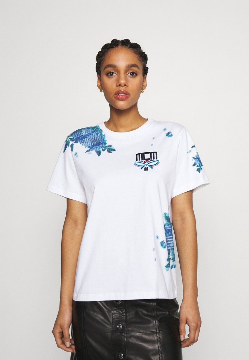 MCM - SHORT SLEEVES TEE - Print T-shirt - white